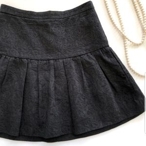 J. Crew Matelasse black drop waist skirt NWT